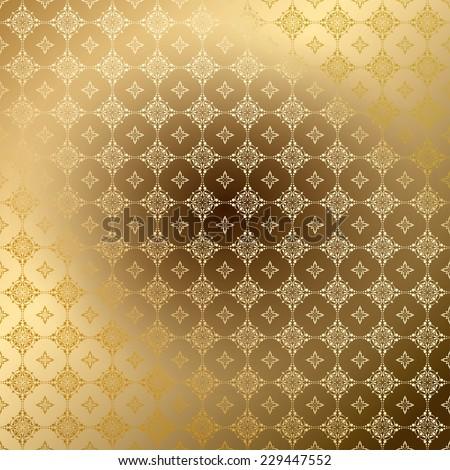 golden ornamental background with gradient - stock photo
