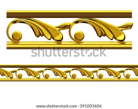 "golden ornamental segment, ""Hold"", straight version for frieze, frame or border. - stock photo"