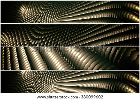 golden pattern - 4 divider - stock photo