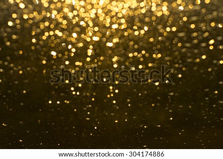 golden rain - stock photo