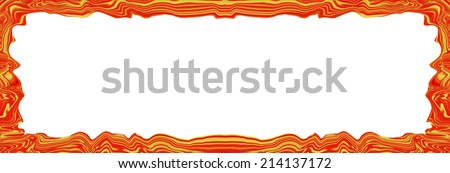 golden red abstract blurry smooth border frame - stock photo