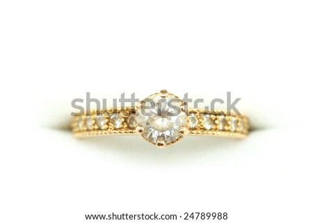Golden ring - stock photo