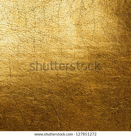 Golden rough grainy background - stock photo