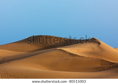 golden sand dune at Maspalomas, Grand Canary, Canary Islands - stock photo