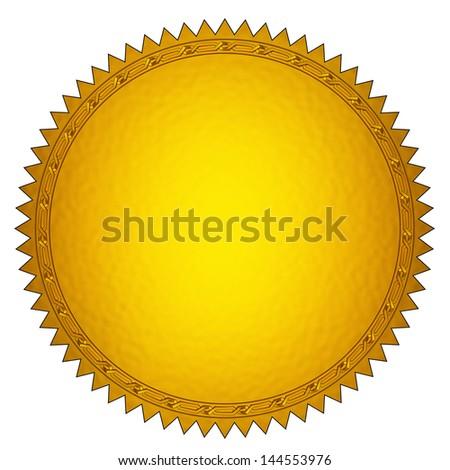 Golden Seal - stock photo