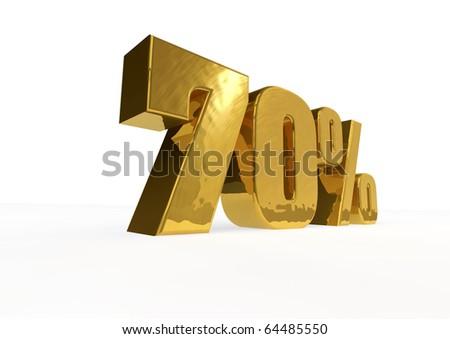 golden seventy percent - stock photo