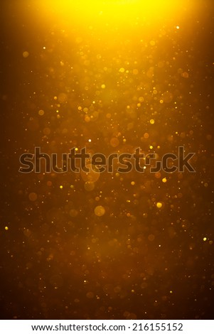 golden shiny bokeh background - stock photo