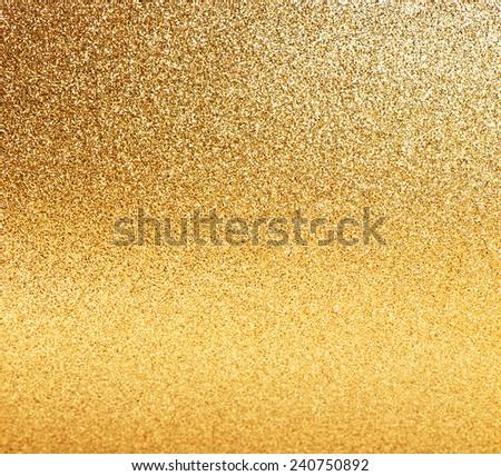 golden shiny lights. abstract vibrant background - stock photo