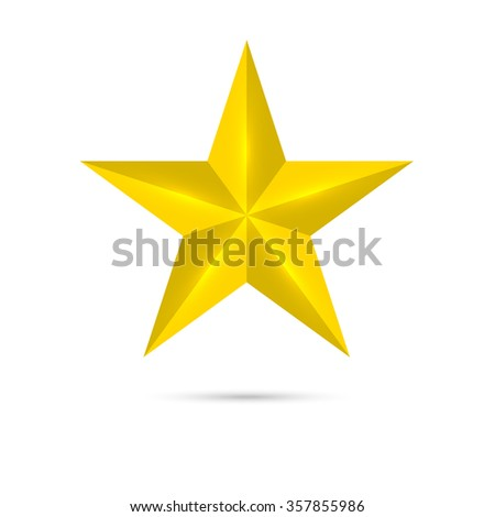 Golden shiny,  star. winning, encourage. mark the best. rank