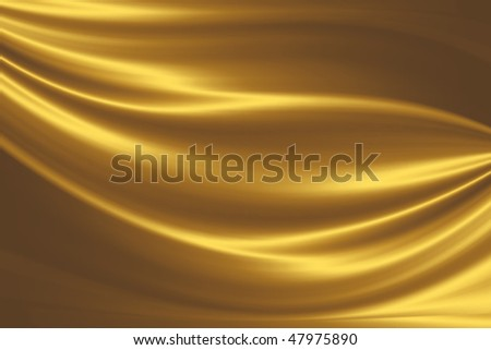 golden silk - stock photo