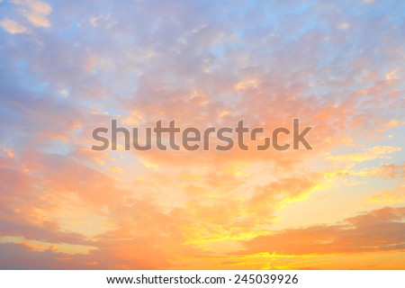 Golden sky background - stock photo