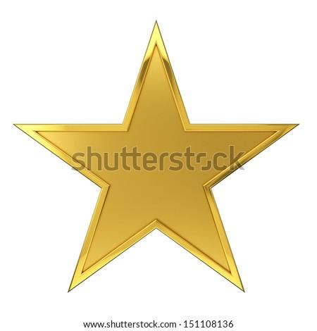 Golden Star Award. - stock photo