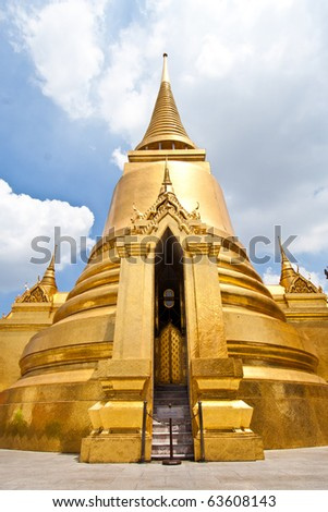 Golden Stupa in Grand Palace, Thailand - stock photo