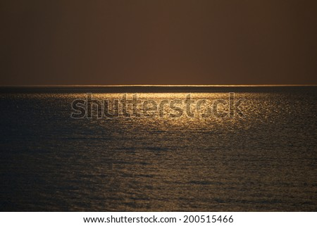 Golden sunset colors - stock photo