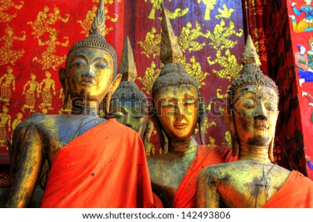 Golden Temple at Luang Prabang, Laos - stock photo