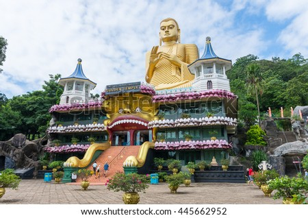 Golden temple in Dambulla. Sri Lanka