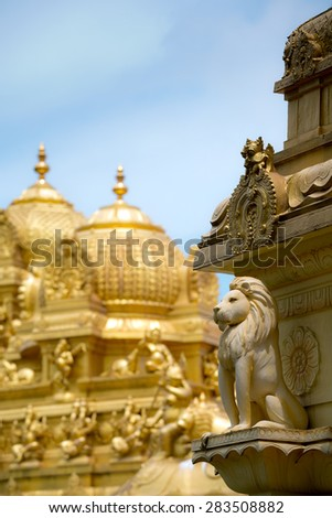Golden Temple, in Singapore - stock photo