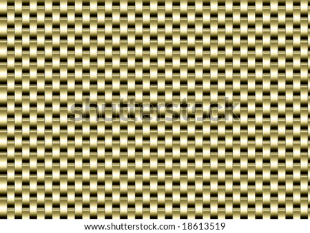 Golden textural background like a watch bracelet - stock photo