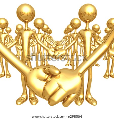 Golden Unity - stock photo