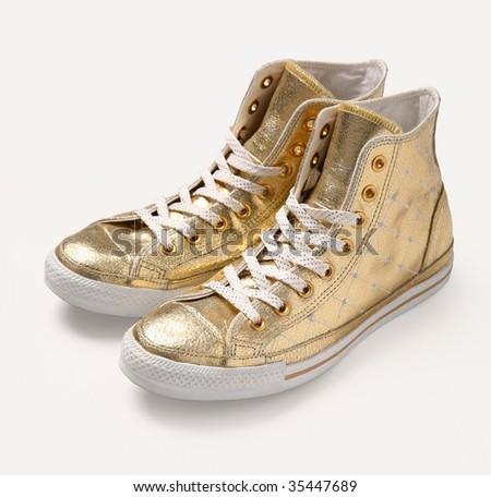 MiuMiu golden shoes