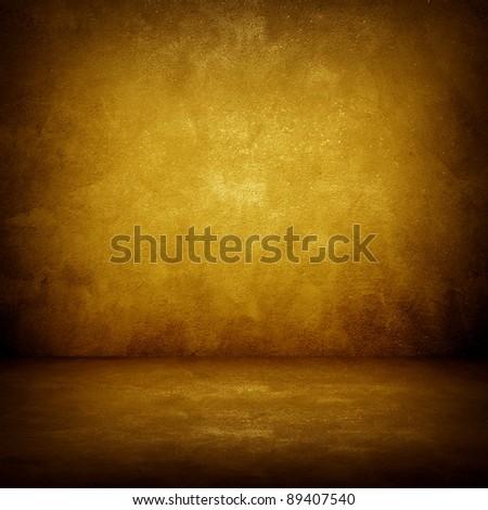 golden wall - stock photo