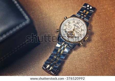 Golden Watch - stock photo
