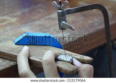 Goldsmith workshop  - stock photo