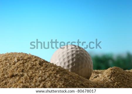 Golf ball. - stock photo