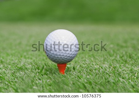 Golf Ball Close-up, Extremely Shallow DOF - stock photo