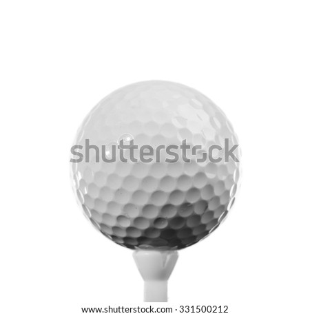 Golf ball closeup - stock photo