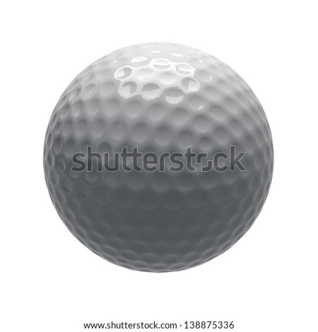 golf ball in isolate - stock photo
