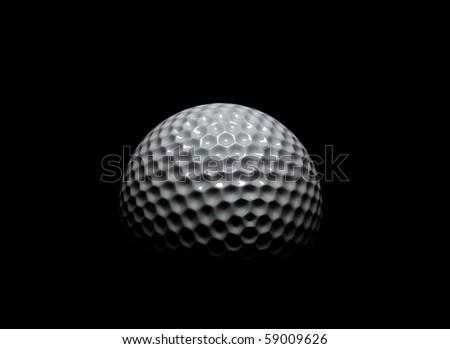 Golf ball in the dark - stock photo