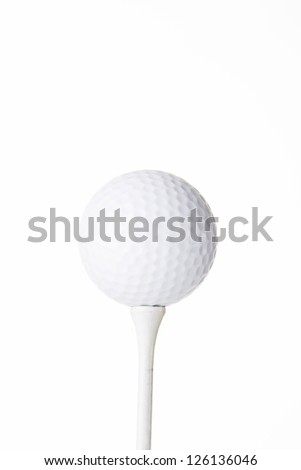 Golf ball isolated