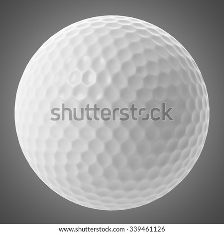 golf ball isolated on gray background - stock photo