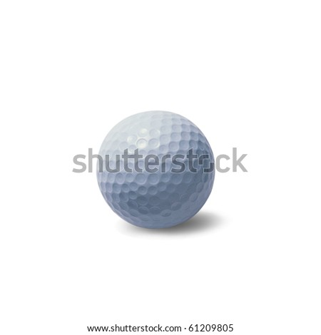 golf-ball isolated on white background, clipping path included - stock photo