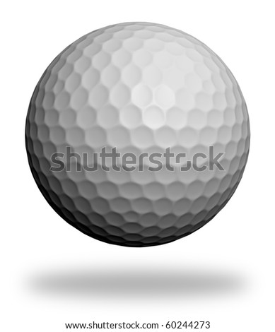 Golf ball isolated on white. 3d render background for design. High quality +20 megapixel - stock photo