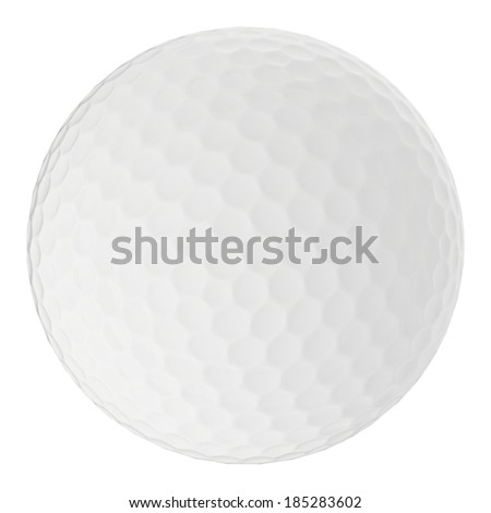 Golf ball isolated on white wiht Clipping path - stock photo
