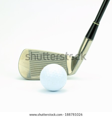 Golf ball isolated white background.