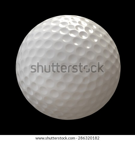 golf ball on black background. High resolution 3d - stock photo
