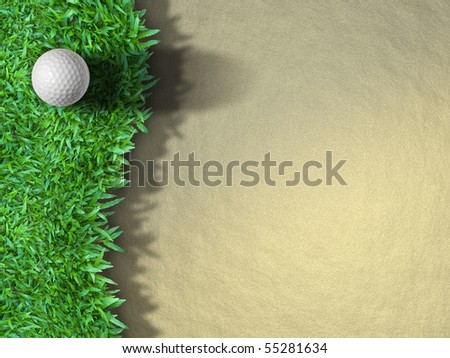 Golf Ball on the Grass for web Background - stock photo