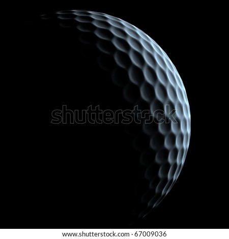 golf ball over dark background - stock photo