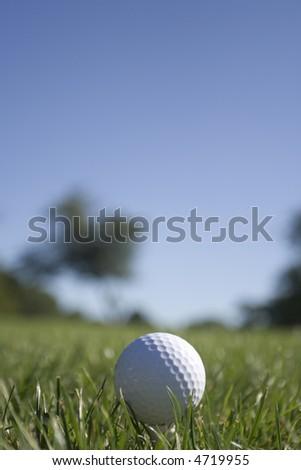 Golf Ball - Portrait Orientation (see 4719952 for Landscape Orientation) - stock photo