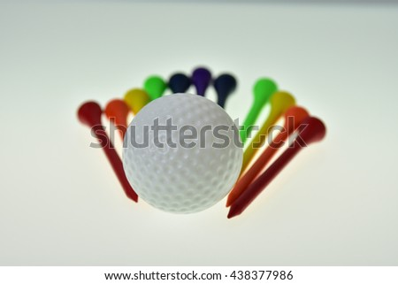 Golf Ball with tee pegs assorted