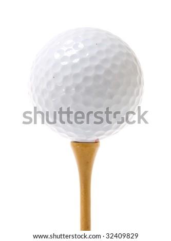 golf ballon tee - stock photo