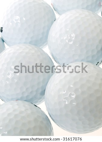 golf balls as a background - stock photo