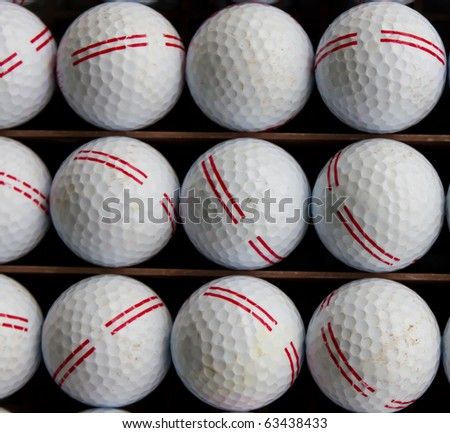 Golf balls on tray