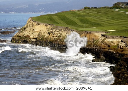 Golf By The Sea 3 - stock photo