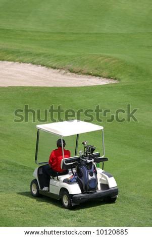 golf cart - stock photo