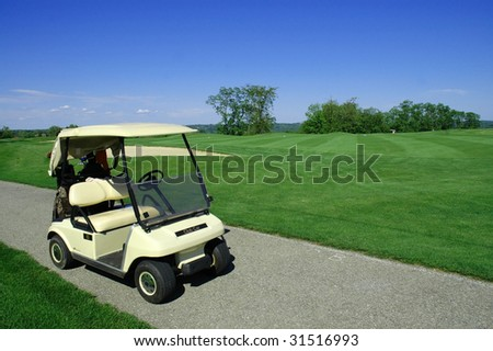 Golf Cart on Golf path