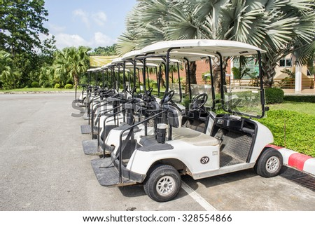 golf carts at sport club